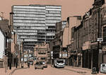 South End - Croydon, 2016 (acrylic ink on board)