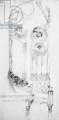 Staircase, 1891 (pencil on paper)