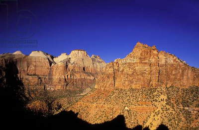 Topographic Views, Zion National Park, Utah, 2001 (photo)