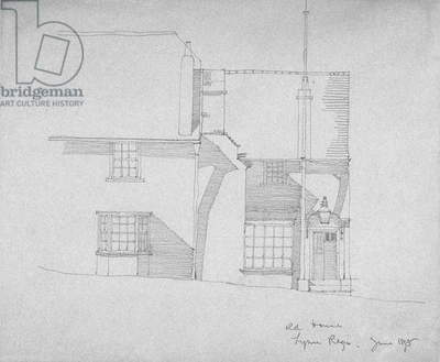 Old House, Lyme Regis, Dorsetshire, 1895 (Pencil on tracing paper)