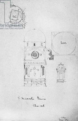 Chancel of S. Miracoli, Venice, 1891 (pencil on paper)