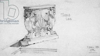 Table Leg, 1891 (pencil on paper)