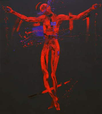 Jesus Dies on the Cross - Station 12 (oil on canvas)