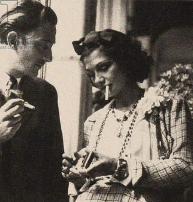 Coco Chanel and Salvador Dali, 1938 (photo)