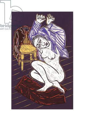 With Good Grace, 2009 (linocut)