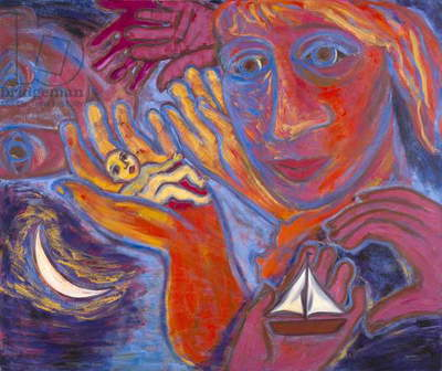 Gift, 1985 (oil on canvas)