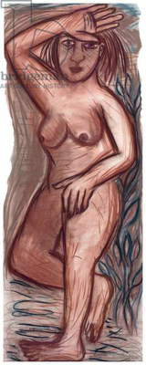 Guardian I, 2000 (pastel on paper)