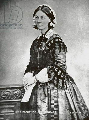 Florence Nightingale, c.1860 (b/w photo)