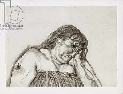 Woman with an Arm Tattoo, 1996 (etching on paper)