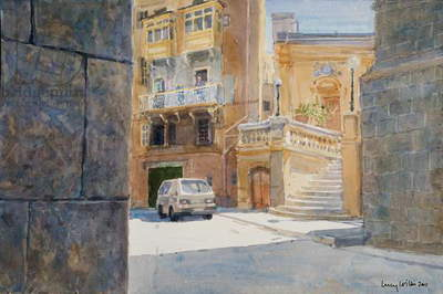 The Walls of Birgu, 2011 (w/c on paper)