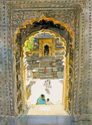 The Maheshwar Temple, 2003 (w/c on paper)