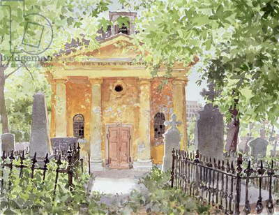 Temple of Harmony, Vesprem, Hungary, 1996 (w/c on paper)