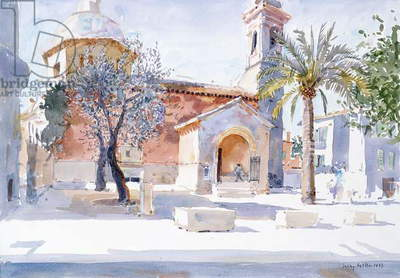 Provencal Church, 1993 (w/c on paper)