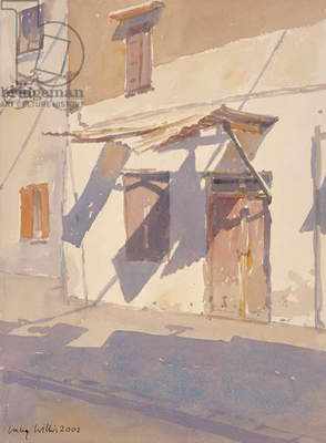 Cretan Shadows, 2002 (w/c on paper)
