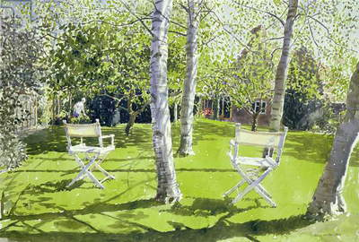Silver Birches, 1988 (w/c on paper)