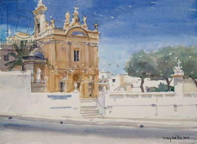The Capuccini Church, 2012 (w/c on paper)