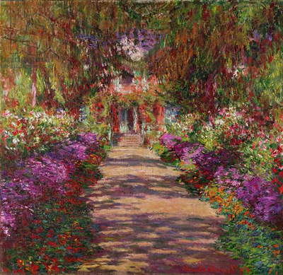 A Pathway in Monet's Garden, Giverny, 1902 (oil on canvas)
