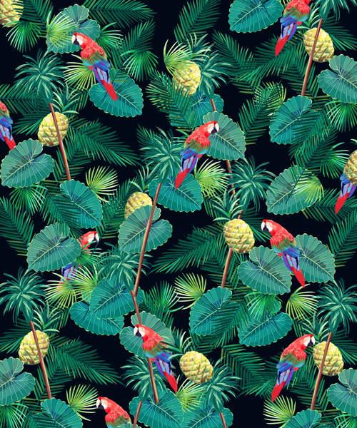 Parrot with Pineapple, 2015 (digital illustration), Honda, Yoko / Japanese, Private Collection, © Yoko Honda / Bridgeman Images