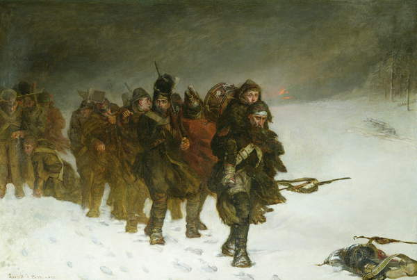 Image on the March from Moscow, 1873 (oil on canvas) by Pott, Laslett John (1837-98), © Forbes Magazine Collection / Bridgeman Images.