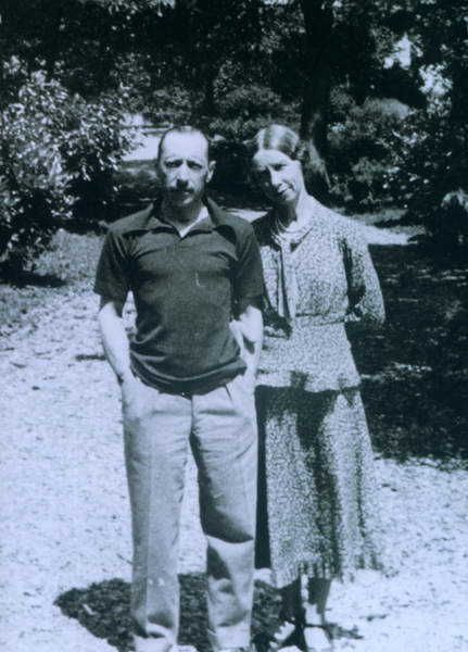 Image of Igor Stravinsky and his wife Catherine , 1932 /3 At Voreppe (France), 1932 / 3 at Voreppe, France. Russian composer 1882 - 1971, © Fondation Théodore Strawinsky / Bridgeman Images