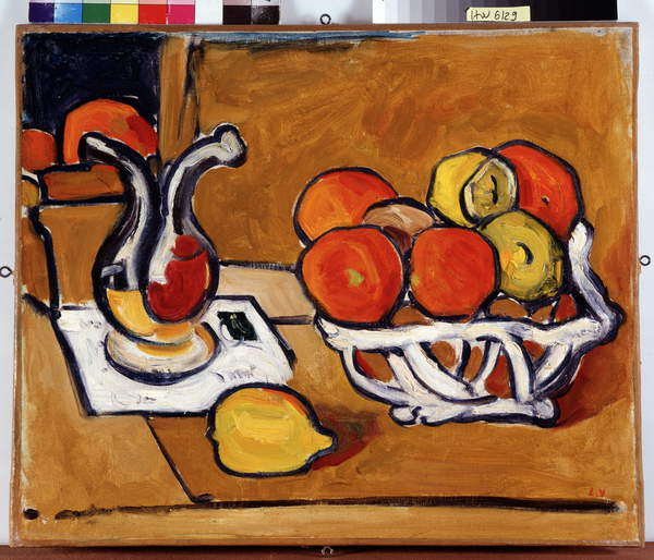 Image of Still Life in the Oil Shill, 1910 (oil on canvas), Valtat, Louis (1869-1952) / French, © Jean Bernard / Collection fondation regards de Provence, Marseille / Bridgeman Images