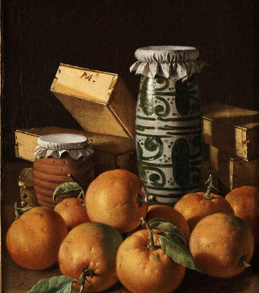 Image of a Still Life with Oranges, Jars, and Boxes of Sweets, c.1760-65 (oil on canvas) by Melendez, Luis Egidio (1716-80), © Kimbell Art Museum / Bridgeman Images