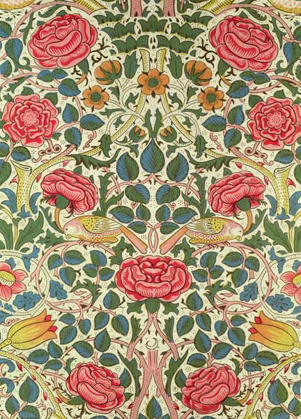 Image of 'Rose', 1883 (printed cotton) by Morris, William (1834-96) © Bridgeman Images