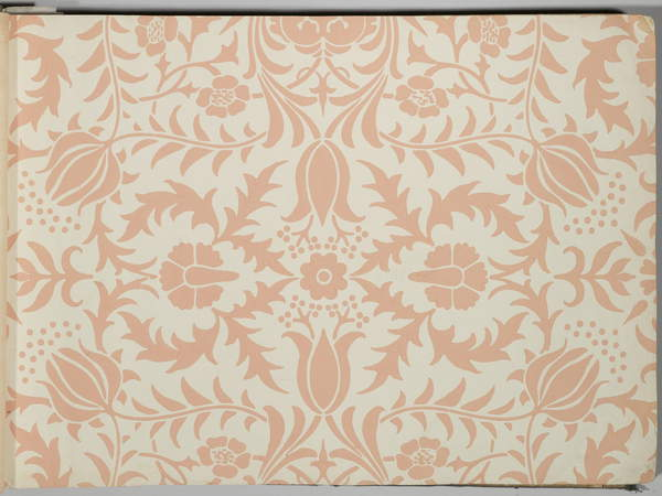 Image from a Wallpaper sample book, before 1917 (print), Morris, William and Company (fl.19th-20th century), Brooklyn Museum of Art, New York, USA, printed paper, (C20th), Wallpaper sample book, printed paper. Each sample illustrating different colours of different floral and foliate wallpaper designs by William Morris with pattern name and number on back. 21 1/2 x 14 1/2 in, © Brooklyn Museum of Art / Purchased with funds given by Mr. and Mrs. Carl L. Selden and Designated Purchase Fund / Bridgeman Images