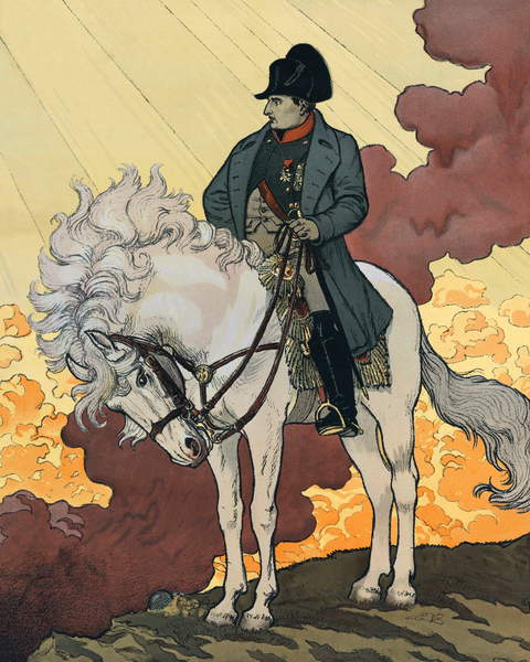 """Image of A New Life of Napoleon I Bonaparte (1769-1821). 1894 Lithography by Eugene Samuel GRASSET (1845-1917) published in """""""" The Century Magazine"""""""". Private collection. by Grasset, Eugene (1841-1917) © Stefano Bianchetti / Bridgeman Images"""