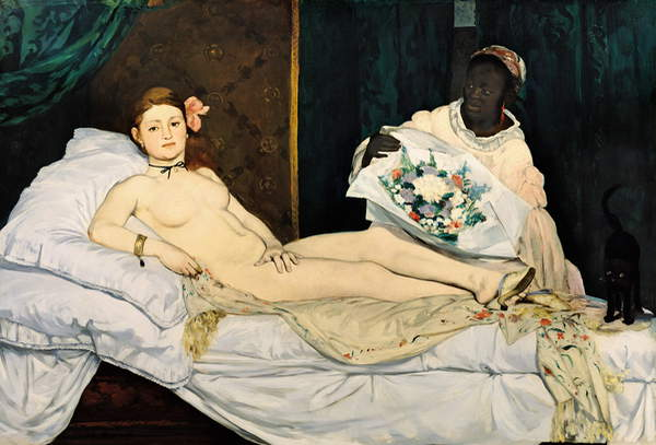 Olympia, 1863 (oil on canvas), Manet, Edouard (1832-83) / French, Musee d'Orsay, Paris, France © Bridgeman Images