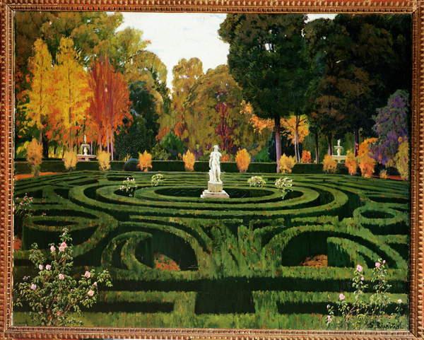 Image of The Old Faun, 1912 (oil on canvas), Rusinol i Prats, Santiago (1861-1931) / SpanishPrado, Madrid, Spain, oil on canvas, 117x146 cms,© Bridgeman Images