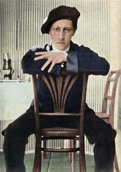 Image of Igor Stravinsky on chair in Leysin, Switzerland, 1914. Russian composer 1882 - 1971, © Lebrecht Music Arts / Bridgeman Images