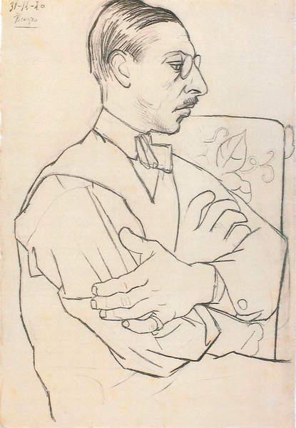 Image of Igor Stravinsky - by Picasso, Pablo (1881-1973), © Lebrecht Music Arts/ Bridgeman Images
