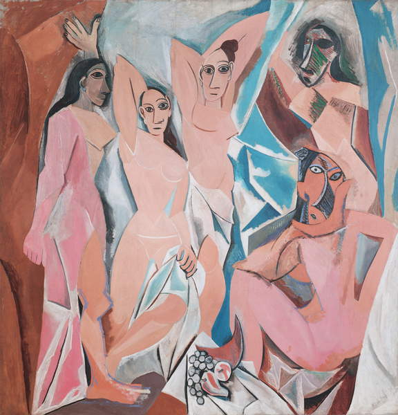 Image of Les Demoiselles d'Avignon, 1907 (oil on canvas) by Picasso, Pablo (1881-1973), Museum of Modern Art, New York, USA, 243.9x233.7cms © Bridgeman Images