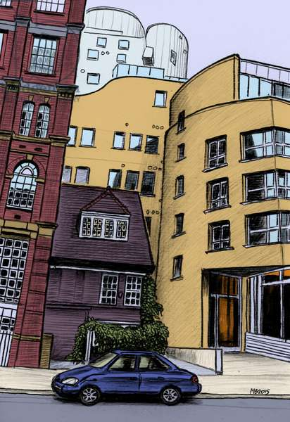 Hopton Street 2, SE1, 2015 (pencil, digital)