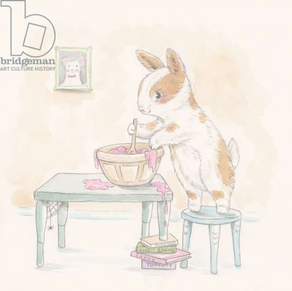 Bunny Cake Mix, 2016, (watercolour and pencil)