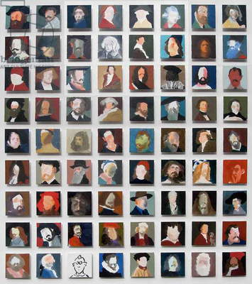 72 Artist Self Portraits, 2010 (oil on canvas)