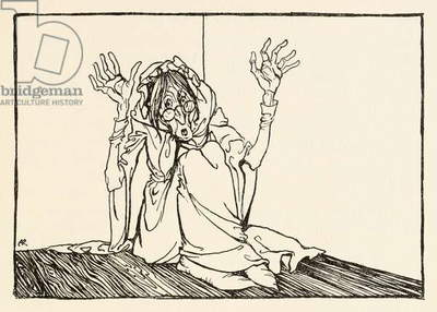 The Hag sat against the wall, from 'Morgan's Frenzy' in 'Irish Fairy Tales'