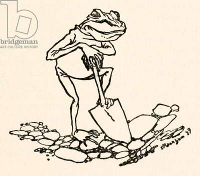 Frog with a spade from 'Gulliver's Travels' by Jonathan Swift