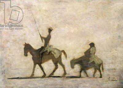Don Quixote and Sancho Panza (oil)