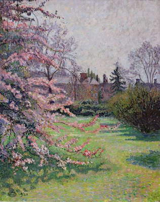 Japanese Crab Apple Blossom, Kew, 1921 (oil on canvas)