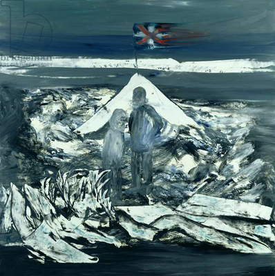 Camp, (Captain Scott's 1912 South Pole Expedition), 1964 (oil on hardboard)