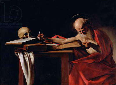 St Jerome Writing, c.1604 (oil on canvas) (for detail see 64912)