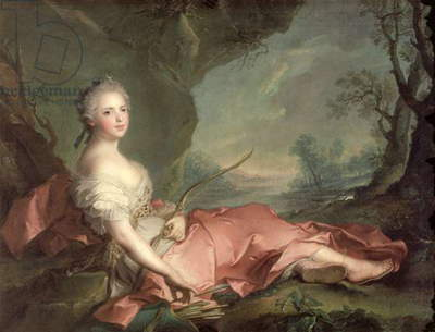 Portrait of Maria Adelaide of France, daughter of Louis XV dressed as Diana, 1745 (oil on canvas)