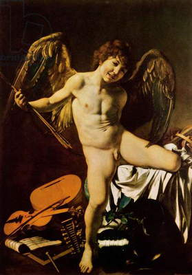 Victorious Cupid, 1602 (oil on canvas)