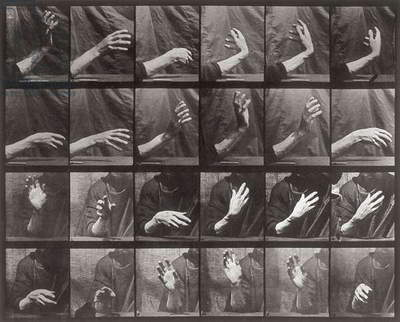 Sequence with hand movement, plate 535 from 'Animal Locomotion' (collotype)