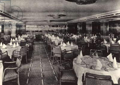 R.M.S. Queen Mary: tourist class restaurant of the transatlantic Queen Mary