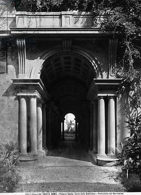 Detail of the courtyard of Palazzo Spada, Rome