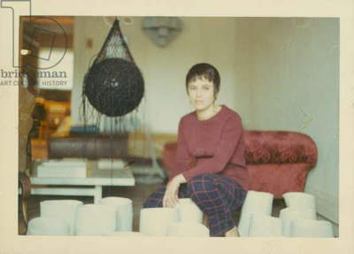 Colour Photograph of Eva Hesse with Vertiginous Detour, c.1968 (photo)