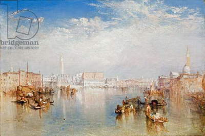 View of Venice: The Ducal Palace, Dogana and Part of San Giorgio, 1841 (oil on canvas)